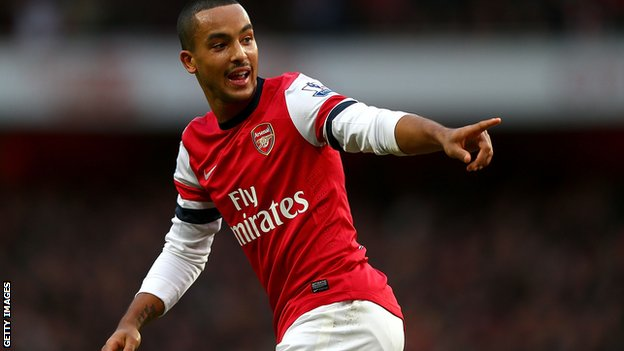 Arsenal forward Theo Walcott