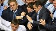 Deputies of the opposition fight with deputies of the majority