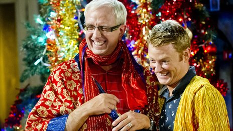 Rory Cowan (left), who plays Mrs Brown's son Rory has worked with O'Carroll for 20 years.