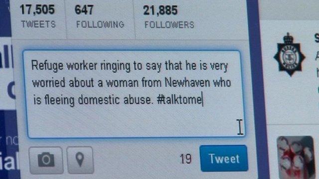 Domestic abuse tweet