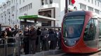 A tram in Casablanca, Morocco - Tuesday 11 December 2012