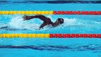 Malian Amara Mamadou Soumare swimming in Istanbul, Turkey - Wednesday 12 December 2012
