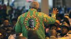 Zanu-PF minister Ignatius Chombo in a Robert Mugabe shirt in Gweru, Zimbabwe - Saturday 8 December 2012