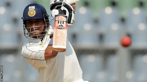 Indian batsman Sachin Tendulkar