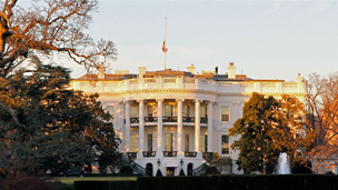 The White House flag flew at half mast