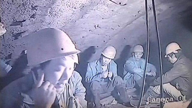CCTV image of trapped workers