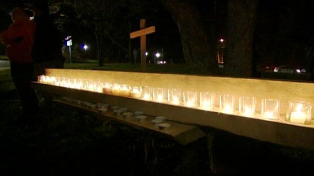 Candles at vigil