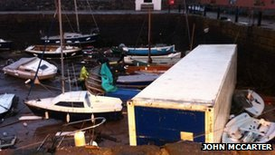 Damage at North Berwick harbour