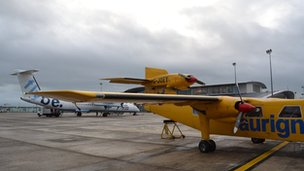 Aircraft at Guernsey Airport