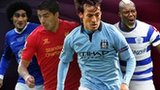 Left to right: Marouane Fellaini, Luis Suarez, David Silva, Djibril Cisse