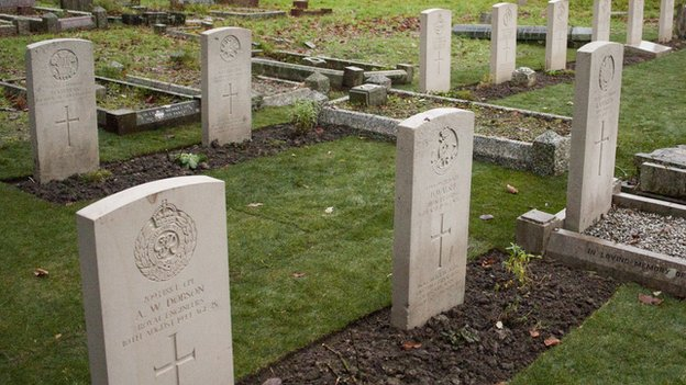Twelve war graves at Trowbridge Cemetery have been renovated