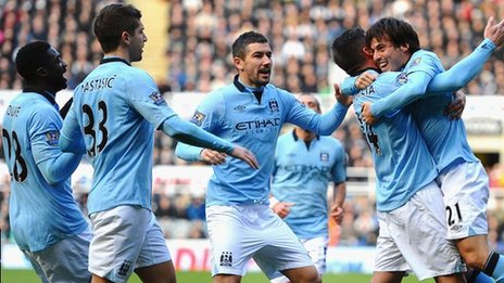 NEWCASTLE UNITED 1-3 MANCHESTER CITY ALL goals Highlight 15-12-2012