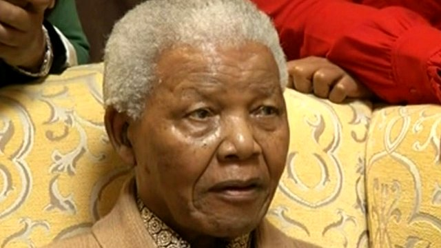 Nelson Mandela in May 2012
