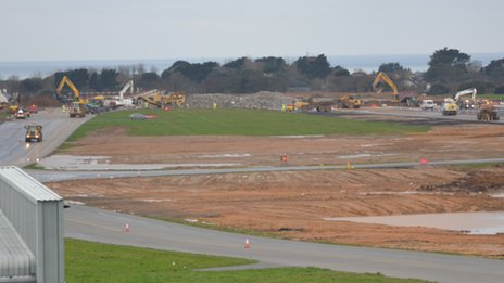 Guernsey Airport works