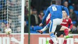 Michael Bostwick scores Peterborough's opening goal