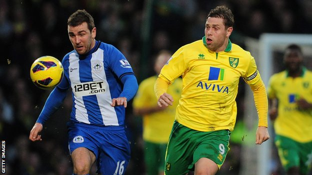 James McArthur (l) and Grant Holt