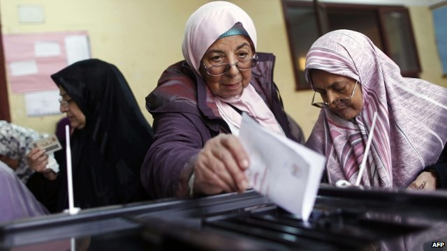 Women voting in Egypt