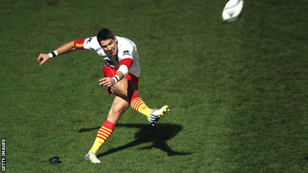Perpignan fly-half James Hook