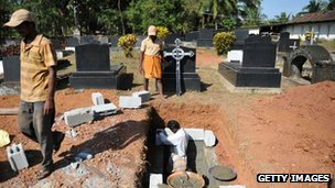 Jacintha Saldanha's grave is prepared