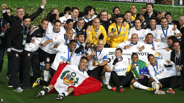 Corinthians celebrate winning the FIFA Club World Cup