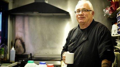 Vinnie Swain in his kitchen