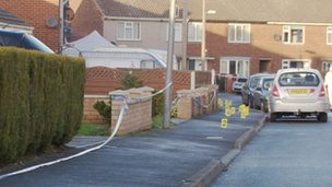 Crime scene in Snaith