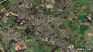 Aerial view of Redruth