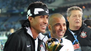 Paulinho (left) has previously played for FC Vilnius and LKS Lods in eastern Europe