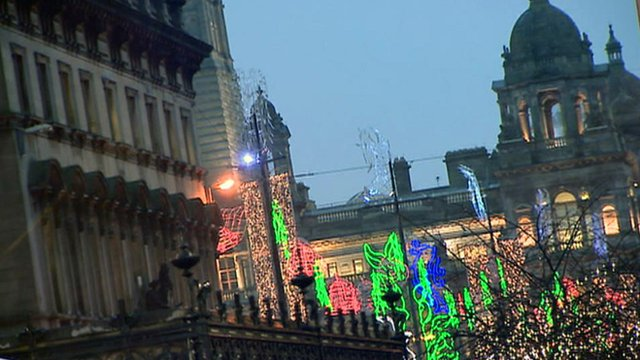 Christmas lights in Glasgow