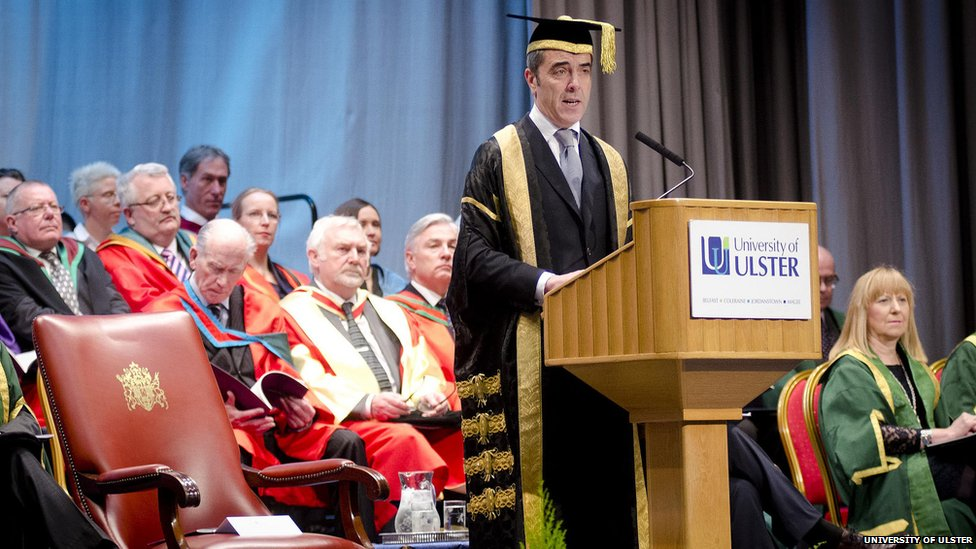 University of Ulster Chancellor Dr James Nesbitt opens the Winter Graduation Ceremonies at Jordanstown.