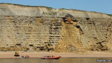 Landslide between Hive Beach and Freshwater near Burton Bradstock