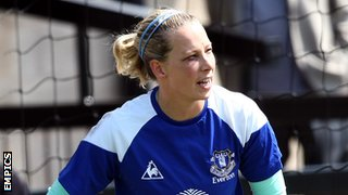 Everton Ladies goalkeeper Rachel Brown