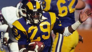 Eric Dickerson of the then LA Rams has held the single-season rushing record for 28 years