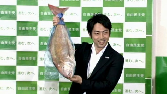 Fish used to celebrate election win