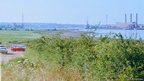 Site of the Orwell Bridge viewed from Wherstead before construction work got under way