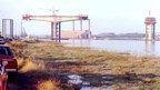 Construction work begins on the Orwell Bridge