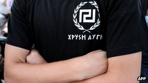 Golden Dawn supporter in Greece