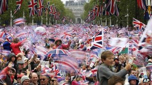 Diamond Jubilee celebrations on the Mall in London