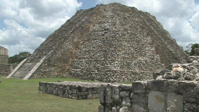 A Mayan building
