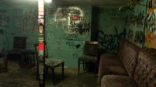 The dressing room at The Joiners