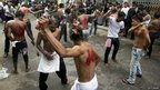 Shia Muslims flagellate themselves in Rangoon, Burma. Photo: 25 November 2012