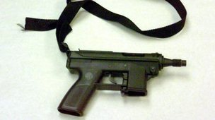 A Tec-9 gun used in the Columbine shootings