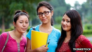 Three female students