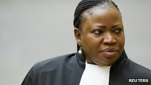 Prosecutor Fatou Bensouda at the Hague (18 December 2012)