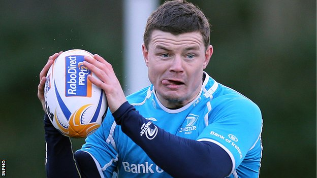 Brian O&#039;Driscoll back in training with Leinster