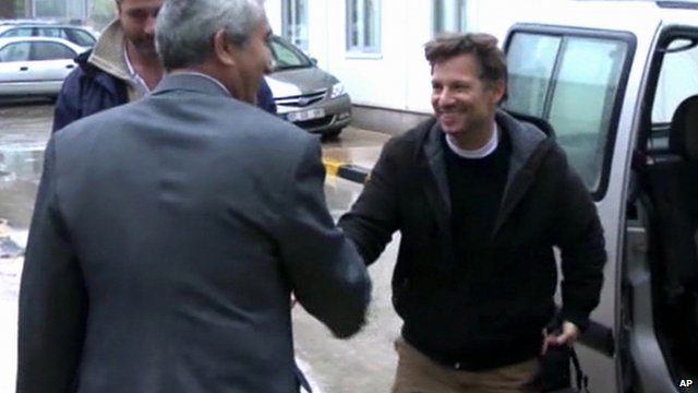 NBC chief foreign correspondent Richard Engel arrives in Turkey