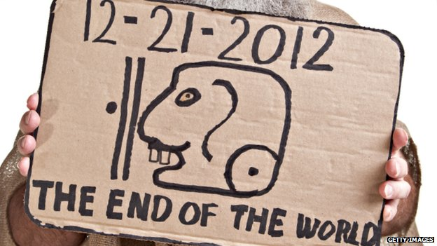 Sign predicting the end of the world