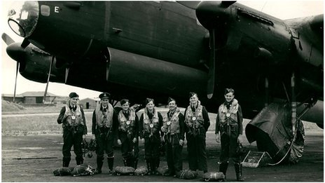 A Lancaster crew at RAF Waterbeach in 1945
