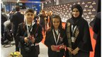 The team on the red carpet at the ExCel Centre