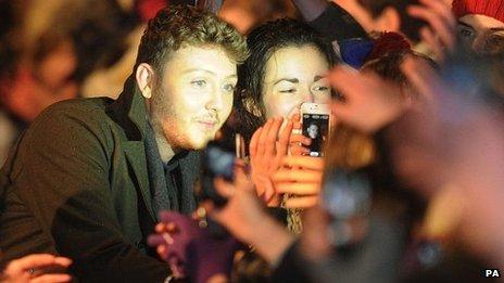 James Arthur with fans